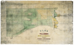 "Bakewell era survey map of ""Yallambee""."
