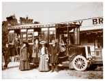 Victorian Railways No.1 steam charabanc at the Plenty Bridge Hotel, c1905, (Museums Victoria Collection).