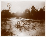 Plenty River in flood at Yallambie, looking upstream c1890, (Bill Bush Collection).