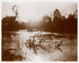 Plenty River in flood at Yallambie, looking upstream c1890, (Bill Bush Collection).