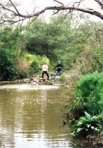 Fishing on the Plenty River at Yallambie, October, 1998.