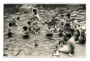 Swimming Pool in the Plenty River at Greensborough, c1952.