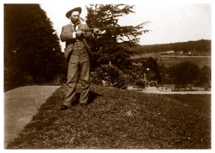 Probably Harry Wragge photographed south of the house, (Bill Bush Collection).