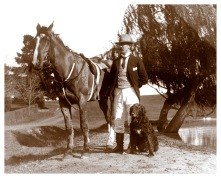 Will Wragge pictured at Yallambie at the start of the 20th century, (Bill Bush Collection).