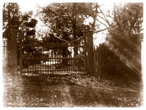 Main gate at Yallambie, c1900, (Bill Bush Collection).