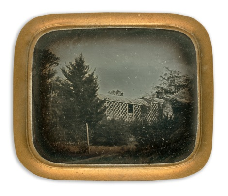 "Sixth-plate Daguerreotype of the Bakewell brothers'""Yallambee"" from the State Library of Victoria Collection."