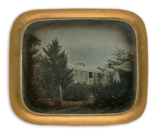 """Sixth-plate Daguerreotype of the Bakewell brothers'""""Yallambee"""" from the State Library of Victoria Collection."""