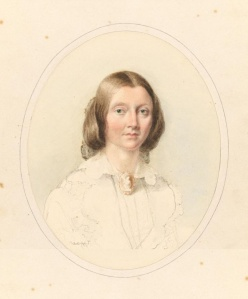 Louisa Anne Meredith painted by her friend Georgiana McCrae, c1860. Source: National Gallery of Victoria