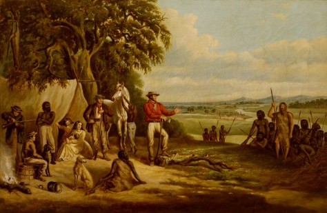 """The first settlers discover Buckley"", by Frederick William Woodhouse, (State Library of Victoria)."