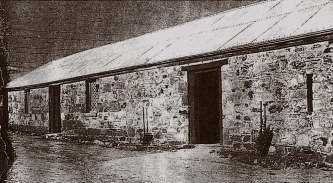 """The old barn behind Preston Hall, (Bryn Teg) Lower Plenty as pictured in """"The Australian Home Beautiful"""" magazine, June, 1929."""